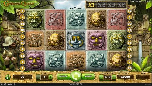 Captura de pantalla Gonzo's quest