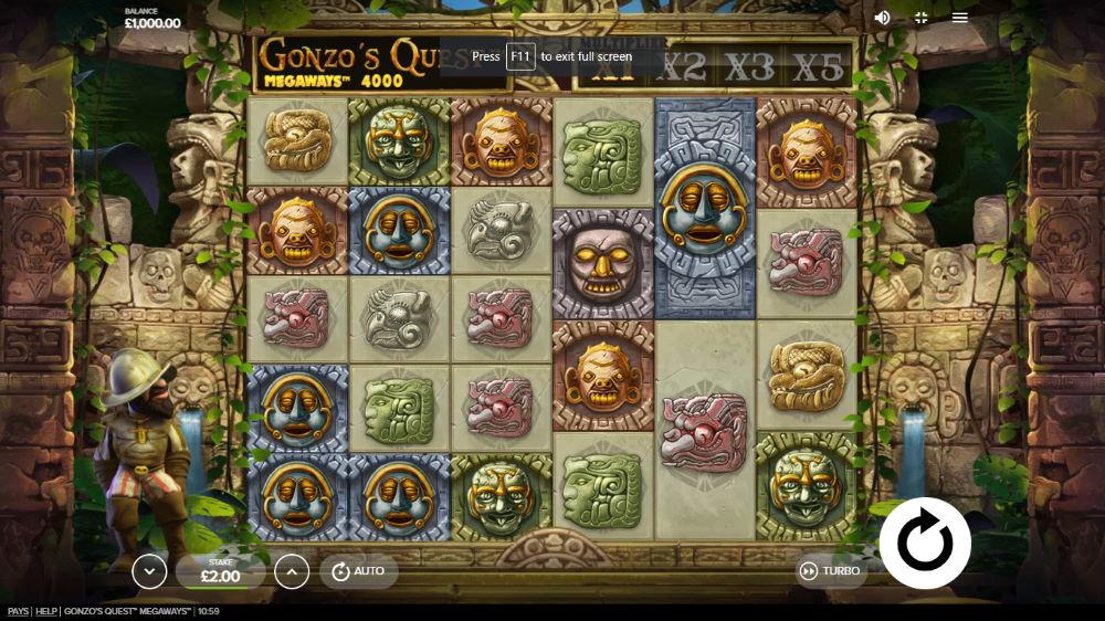 captura de pantalla Gonzo's  Quest Megaways